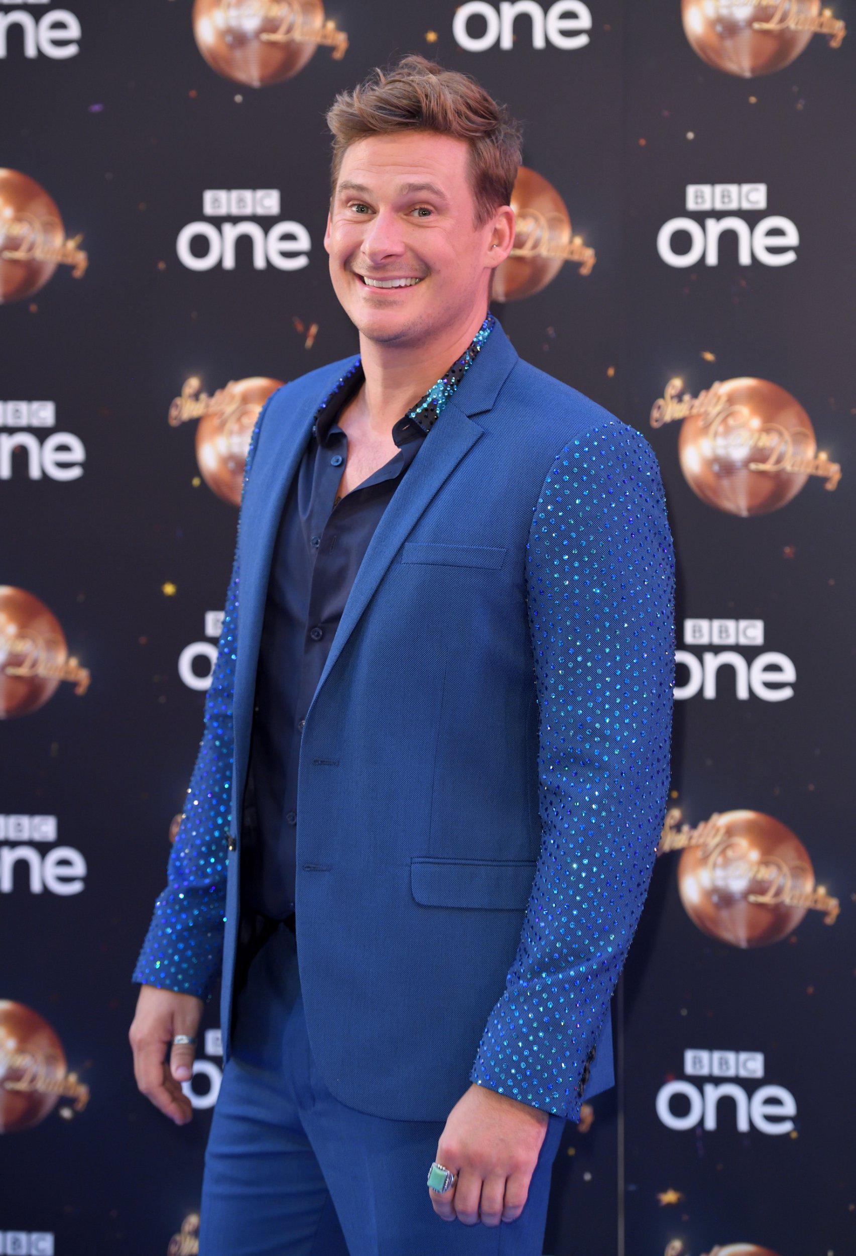 LONDON, ENGLAND - AUGUST 27: Lee Ryan attends the red carpet launch for 'Strictly Come Dancing 2018' at Old Broadcasting House on August 27, 2018 in London, England. (Photo by Karwai Tang/WireImage)