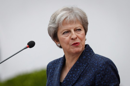 epa06983514 British Prime Minister Theresa May looks on during a joint news conference with Kenyan President Uhuru Kenyatta (not seen) at the State House in Nairobi, Kenya, 30 August 2018. May, who is in the country after visiting South Africa and Nigeria, is the first sitting British Prime Minister to visit Kenya in more than 30 years. While in Kenya, May will visit British soldiers training Kenyan and other African troops to fight Islamist militant group al-Shabab from Somalia. May???s Africa tour aims to strengthen bilateral relations and business ties to boost trade with the continent n the wake of Brexit. EPA/DAI KUROKAWA