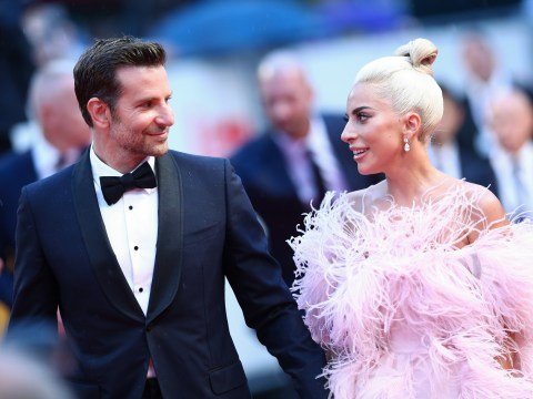 Lady Gaga and Bradley Cooper lock hands for A Star is Born premiere