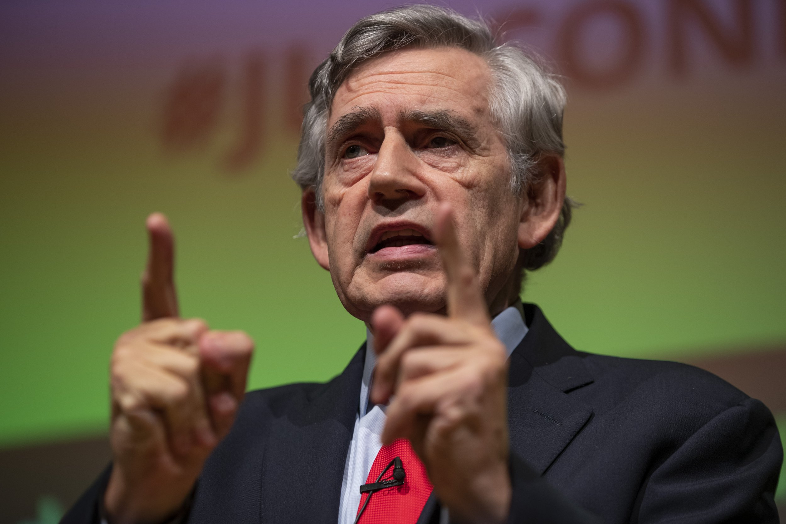 LONDON, ENGLAND - SEPTEMBER 02: Former Labour Prime Minister Gordon Brown attends the 'Jewish Labour Movement Conference' on September 2, 2018 in London, England. (Photo by Dan Kitwood/Getty Images)