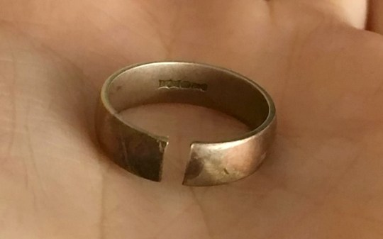 """A wife says she discovered her Argos wedding ring sold as 18ct gold was a fake - and actually made of BRASS. See SWNS story SWRING. The 55-year-old, who asked not to be named, has worn her ring with pride since she married her husband, aged 52, in 2004. But the woman, from Headington, Oxfordshire, took the ring for re-sizing in June, only for it to snap during enlargement - baffling the jeweller, who then tested it. The jeweller then emailed the couple to notify them of their find, and wrote: ?We tested metal and [it] appears to be brass."""" She took the ring to another jeweller to get a second opinion. The second report stated: ?The item has been tested and in my opinion the metal is no better than 9ct yellow gold. ?It has been incorrectly stamped or the marks are false.? The woman said: ?I really feel this is Argos selling fool?s gold, because that?s how I feel: a bit of a fool.?"""