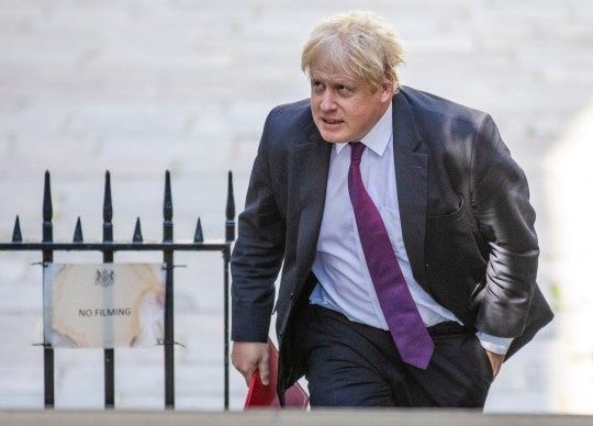 Mandatory Credit: Photo by Rob Pinney/LNP/REX/Shutterstock (9727562n) Foreign Secretary Boris Johnson on Downing Street for the Cabinet meeting. Cabinet Meeting, Downing Street, London, UK - 26 Jun 2018