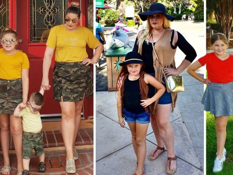Mum matches wardrobes with her 10-year-old daughter several times a week