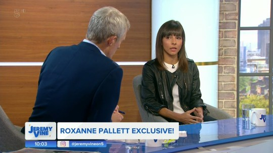Roxanne Pallett apologies to Ryan and his family for overreacting on 'The Jeremy Vine Show'. Broadcast on Channel 5 Featuring: Roxanne Pallett When: 03 Sep 2018 Credit: Supplied by WENN **WENN does not claim any ownership including but not limited to Copyright, License in attached material. Fees charged by WENN are for WENN's services only, do not, nor are they intended to, convey to the user any ownership of Copyright, License in material. By publishing this material you expressly agree to indemnify, to hold WENN, its directors, shareholders, employees harmless from any loss, claims, damages, demands, expenses (including legal fees), any causes of action, allegation against WENN arising out of, connected in any way with publication of the material.**