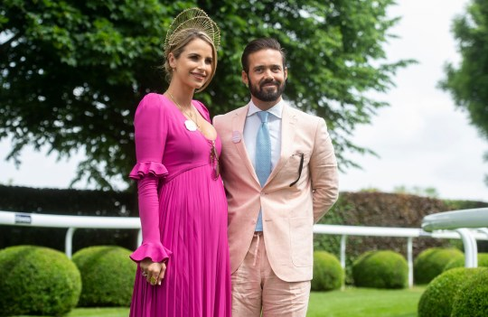 Mandatory Credit: Photo by Jonathan Stewart for The Jockey/REX/Shutterstock (9698322t) Vogue Williams and Spencer Matthews attend Ladies' Day Investec Derby Festival, Ladies Day, Epsom Downs Racecourse, UK - 01 Jun 2018