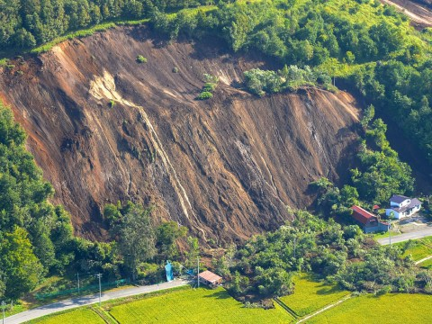 Two dead as powerful earthquake triggers massive landslides in Japan