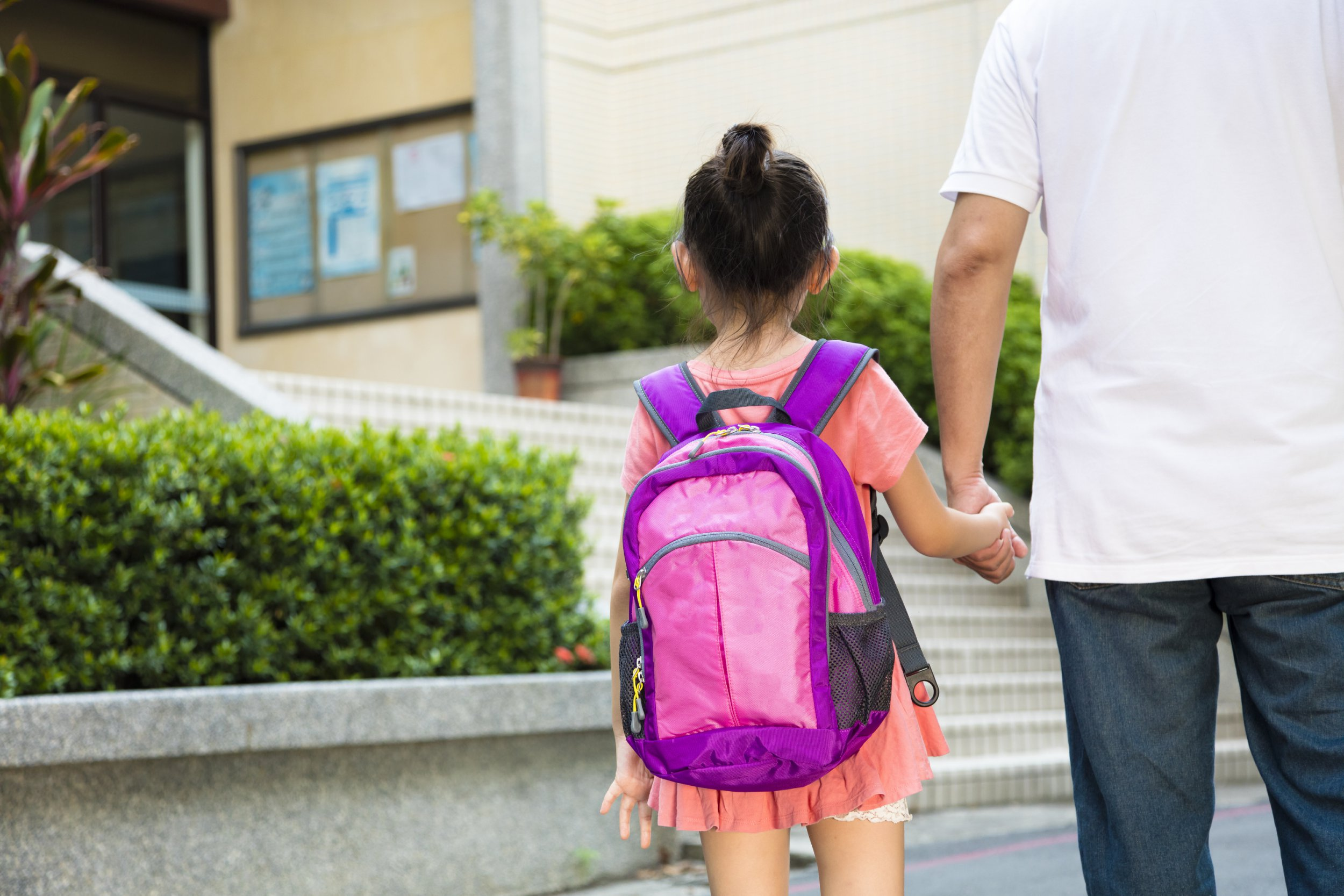 Father Walking To School With Children; Shutterstock ID 302459378; Purchase Order: -