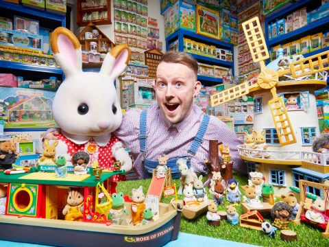 A dance school owner has spent £250,000 on Sylvanian Families toys