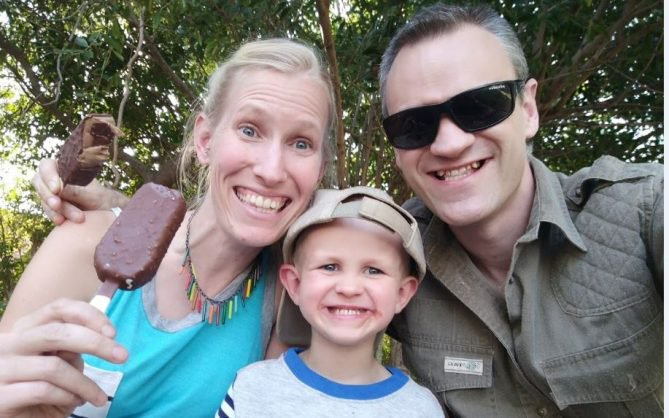 Boy, 3, and mum fighting for their lives after giraffe attack