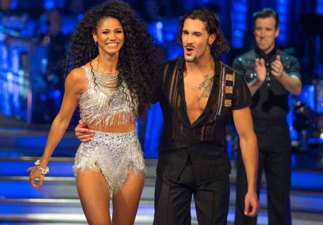EMBARGOED TO 2100 SATURDAY SEPTEMBER 8 For use in UK, Ireland or Benelux countries only Undated BBC handout photo of Tess Daly (left) with Vick Hope and Graziano Di Prima during the return of the BBC One show, Strictly Come Dancing. PRESS ASSOCIATION Photo. Issue date: Saturday September 8, 2018. See PA story SHOWBIZ Strictly. Photo credit should read: BBC/PA Wire NOTE TO EDITORS: Not for use more than 21 days after issue. You may use this picture without charge only for the purpose of publicising or reporting on current BBC programming, personnel or other BBC output or activity within 21 days of issue. Any use after that time MUST be cleared through BBC Picture Publicity. Please credit the image to the BBC and any named photographer or independent programme maker, as described in the caption.