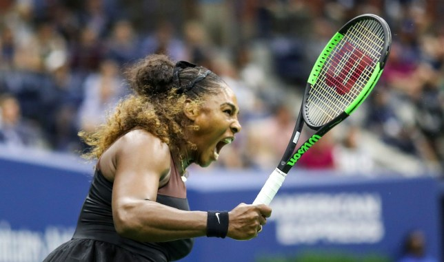 Mandatory Credit: Photo by Dave Shopland/BPI/REX (9877096by) Serena Williams in action during the women's final US Open Tennis Championships, Day 13, USTA National Tennis Center, Flushing Meadows, New York, USA - 08 Sep 2018