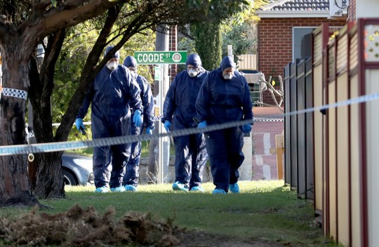 epa07007597 Forensic police officers are seen inspecting a property in Bedford, Perth, Western Australia, Australia, 09 September 2018. Five bodies have been discovered at a home in suburban Perth with homicide squad detectives investigating. According to reports, children and at least one woman have been found dead at the property. Police could not immediately confirm the number of the dead, but was quoted as saying that 'up to' five bodies were found, media added. A man in his 20s is in custody after he reportedly surrendered himself at a police station in connection to the incident. EPA/RICHARD WAINWRIGHT AUSTRALIA AND NEW ZEALAND OUT