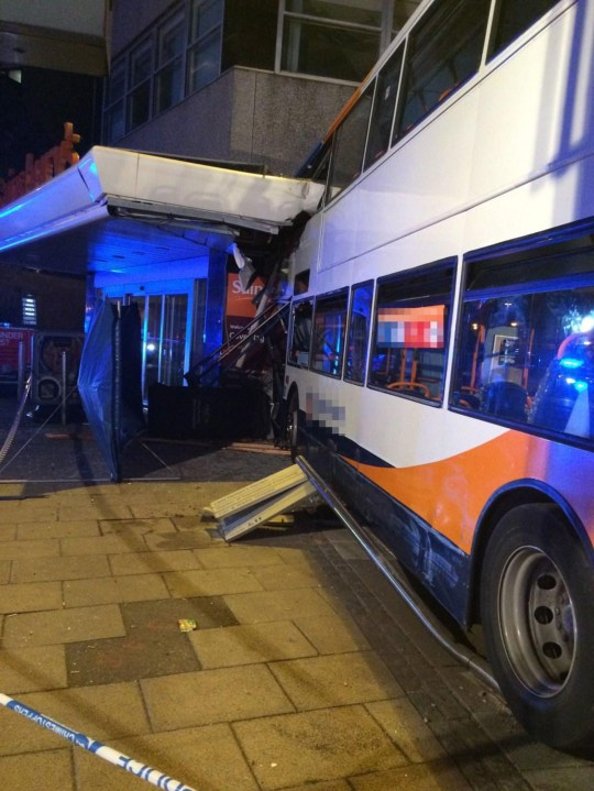 FILE PICTURE - The Stagecoach bus that ploughed into the Sainsbury's supermarket in Coventry. See NTI story NTIBUS. A bus driver will go on trial at Birmingham Crown Court after being charged with killing a seven-year-old passenger and a pedestrian in a city centre crash. The former mayor of Leamington Spa Kailash Chander is accused of losing control of the 13-ton Stagecoach bus which rammed into a Sainsbury's supermarket. Seven-year-old Rowan Fitzgerald was sitting on the top deck with his grandfather when he was killed in the crash which happened at 6pm on October 3, 2015. Dora Hancox, 76, also died when she was hit by the bus as she walked past the cash machine of the supermarket on Trinity Street in Coventry city centre.