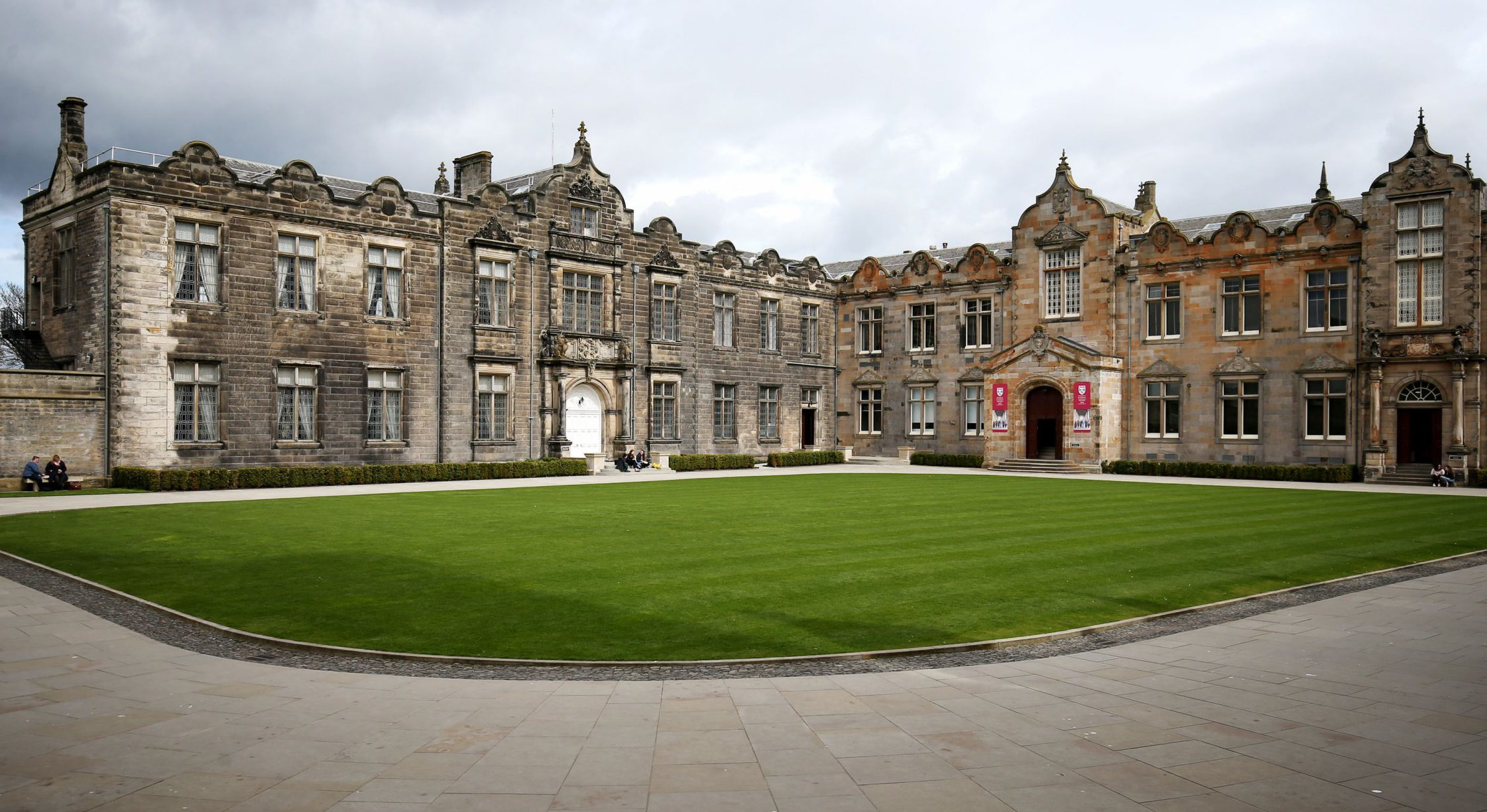 A general view of the Lower and Upper College Halls at the University of St Andrews. The University of St Andrews is top in Scotland and one of the five leading universities in the UK according to the new Complete University Guide's league table.