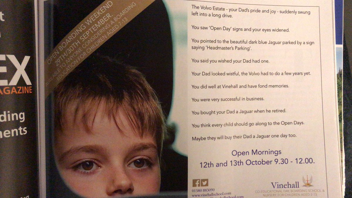 Snobby private school advert looks down on parents who drive Volvos