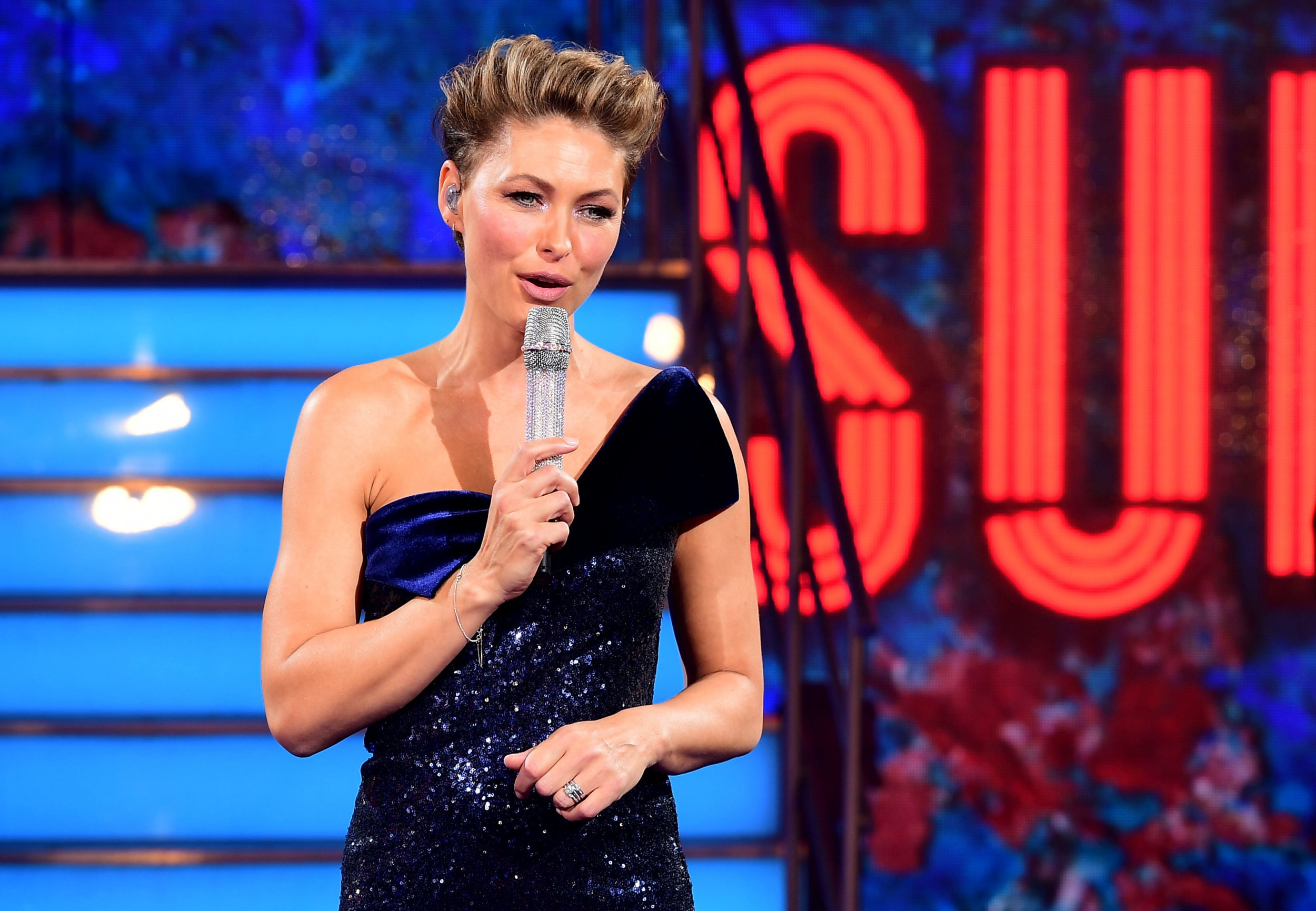 Presenter Emma Willis during the live final of Celebrity Big Brother at Elstree Studios, Hertfordshire. PRESS ASSOCIATION Photo. Picture date: Monday September 10, 2018. See PA story SHOWBIZ CBB. Photo credit should read: Ian West/PA Wire