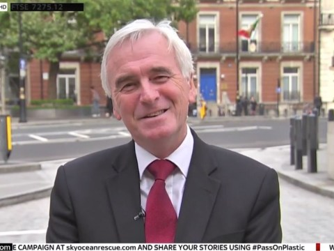 Heckler shouts 'no way' when John McDonnell says he wants another election