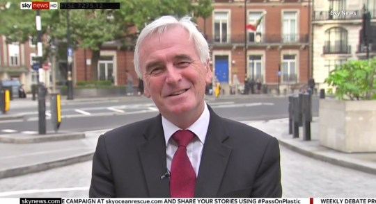 Heckler shouts NO WAY when John McDonnell mentions having another election in Sky interview