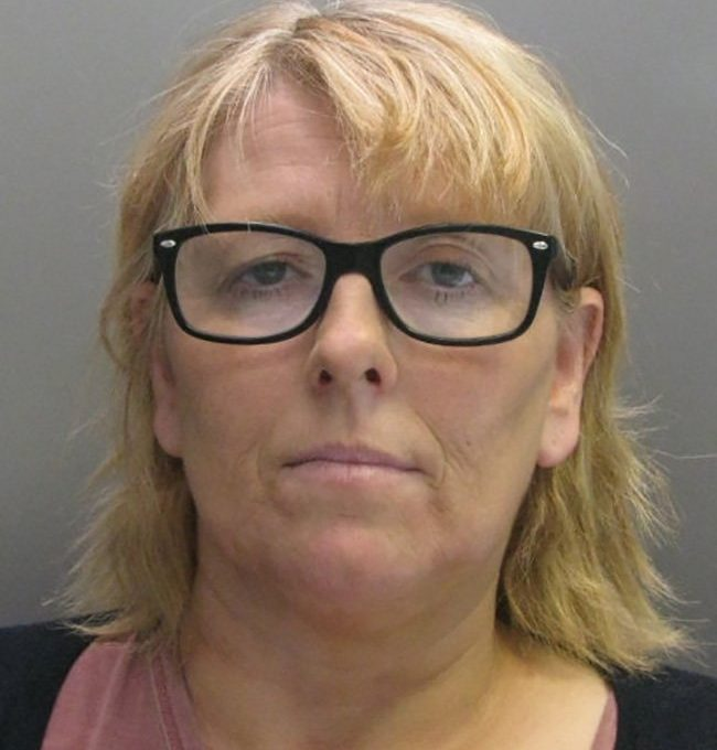 """Samantha Drinkwater, 49. See Masons copy MNPRISON: A 'love struck' prison teacher has today (mon) been jailed for having sex with a convicted murderer who she smuggled porn and cannabis behind bars for. Samantha Drinkwater, 49, was working in the education department at high security HMP Whitemoor when she struck up the relationship with inmate Michael Gregory. She was caught on surveillance cameras committing 'a number of sexual acts' with the inmate, described as a """"dangerous individual""""."""