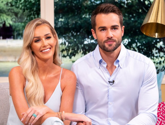 EDITORIAL USE ONLY. NO MERCHANDISING Mandatory Credit: Photo by S Meddle/ITV/REX/Shutterstock (9788612ap) Laura Anderson and Paul Knops 'This Morning' TV show, London, UK - 13 Aug 2018