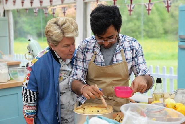 The Great British Bake Off (2018) Episode 3 - Sandi with Rahul baking