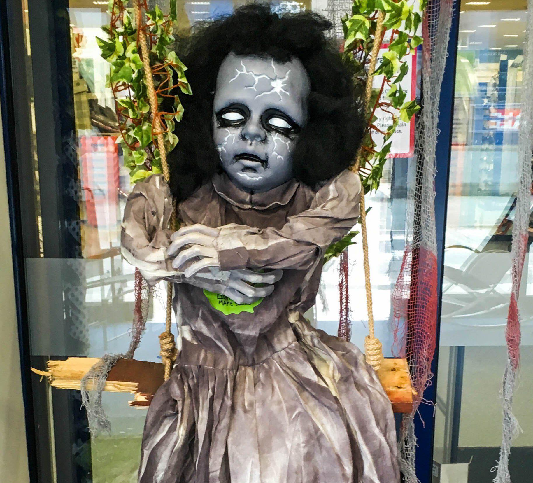 Shop slammed for displaying 'dead child' in Halloween window