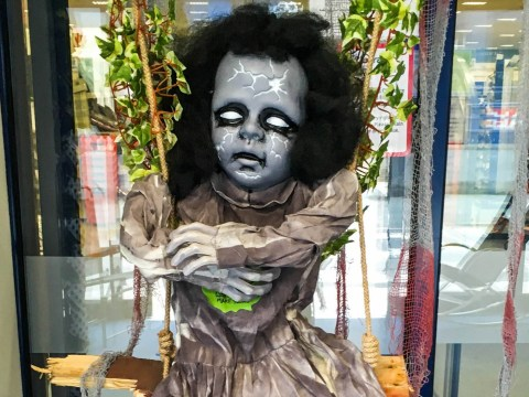 Shop slammed for displaying 'dead child' in Halloween window