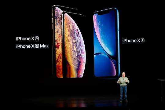 Philip W. Schiller, Senior Vice President, Worldwide Marketing of Apple, speaks about the new Apple iPhone XR at an Apple Inc product launch event at the Steve Jobs Theater in Cupertino, California, U.S., September 12, 2018. REUTERS/Stephen Lam