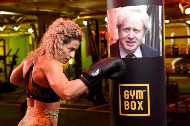 This lady is going to whack Boris one. (Picture: Solent News & Photo Agency)