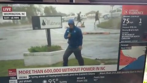 TV weatherman 'exaggerated Hurricane Florence winds' as he