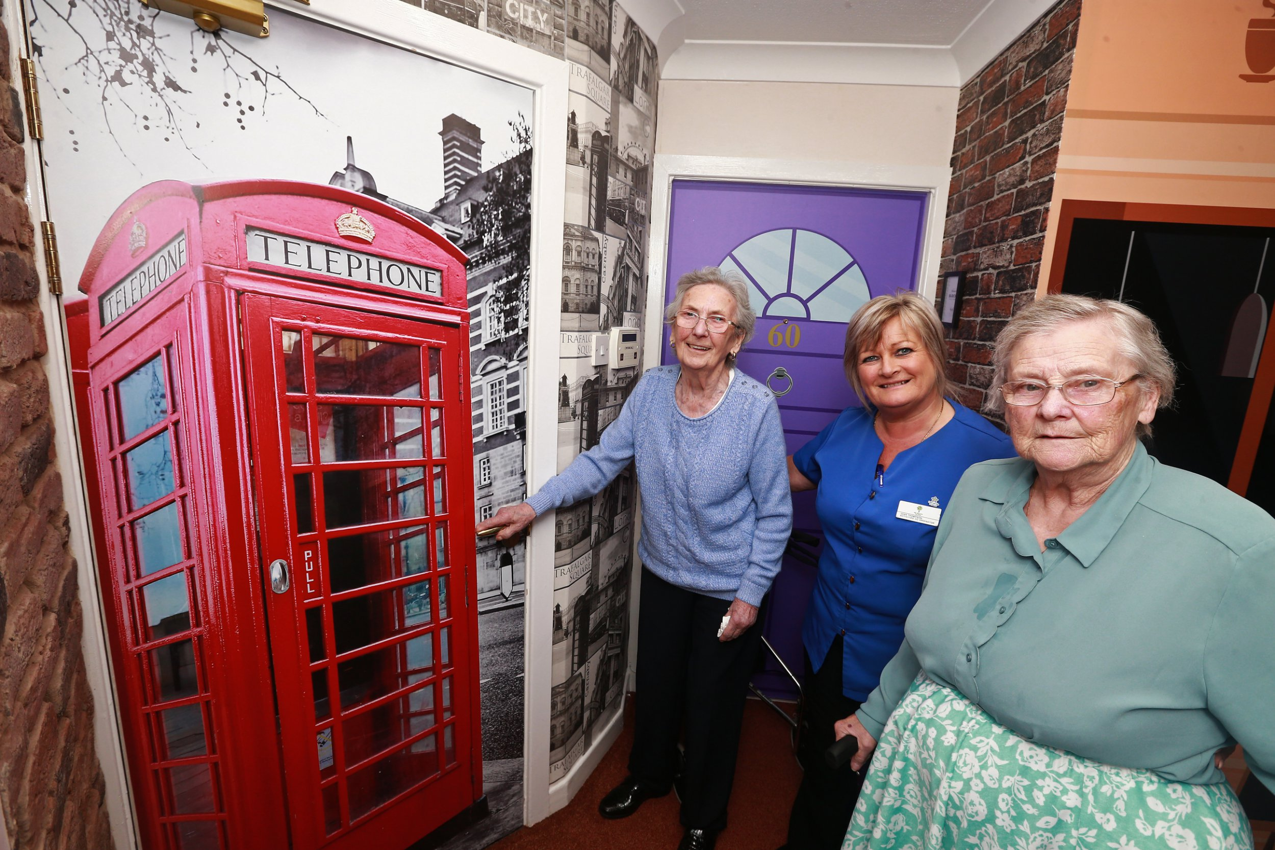Stepping into this care home has become a trip back in time, thanks to a new unit specially designed to help recover lost memories. Corridors in De Baliol Care Home, in Newbiggin by the Sea, Northumberland, have been transformed to mimic the Northumberland of the 1940s and 50s - when many of the home?s residents were in their prime. They feature colourful views of the seaside from ?windows?, old-fashioned shop fronts, and the entrances to bedrooms transformed into proper ?front doors?. It?s intended to help residents suffering with dementia, by providing a familiar and pleasant environment which echoes memories of the past they may be starting to lose.