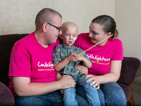 One of Britain's youngest testicular cancer fighters had tumour size of a golf ball