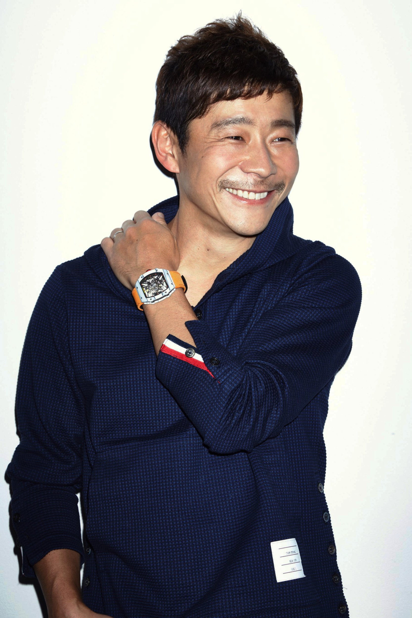 epa07028777 (FILE) - An undated file photo made available on 18 September 2018 shows Yusaku Maezawa, 42, the founder and CEO of Zozo, Japan's largest online fashion retailer. Aerospace company SpaceX announced on 17 September 2018 that it will take Yusaku Maezawa into space to fly around the moon, making this Japanese billionaire the first space tourist to do so. EPA/JIJI PRESS/START TODAY JAPAN OUT EDITORIAL USE ONLY/ MANDATORY CREDIT NO ARCHIVES