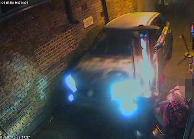MUZZED GRABS - car ploughs into clubbers. Mohammed Abdul is at the wheel of the Suzuki Vitara which can be seen careering down an alleyway leading to a marquee at the rear of Blake's nightclub in Gravesend, Kent