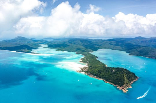 Whitehaven Beach, Whitsundays Islands. Aerial view. Queensland, Australia