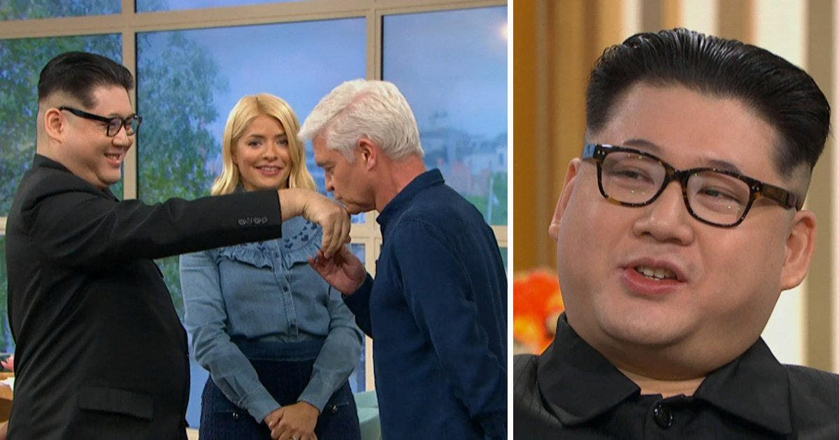 Kim Jong-un impersonator surprises This Morning viewers with 'sh*g' claims forcing Phillip Schofield to apologise