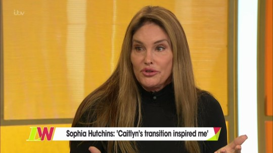 Caitlyn Jenner and Sophia Hutchins join the panel 'Loose Women'. Broadcast on ITV1 When: 20 Sep 2018 Credit: Supplied by WENN **WENN does not claim any ownership including but not limited to Copyright, License in attached material. Fees charged by WENN are for WENN's services only, do not, nor are they intended to, convey to the user any ownership of Copyright, License in material. By publishing this material you expressly agree to indemnify, to hold WENN, its directors, shareholders, employees harmless from any loss, claims, damages, demands, expenses (including legal fees), any causes of action, allegation against WENN arising out of, connected in any way with publication of the material.**