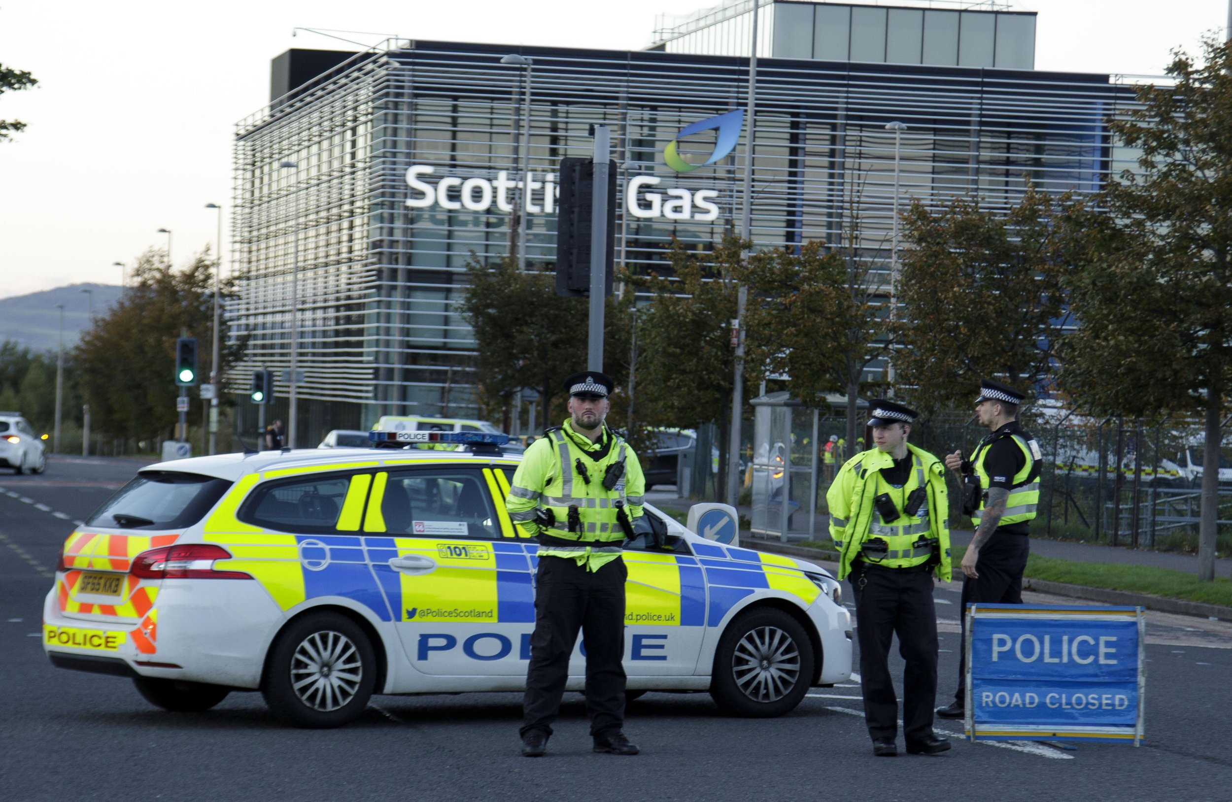 Staff rushed to hospital after 'chemical incident' at Scottish Gas HQ
