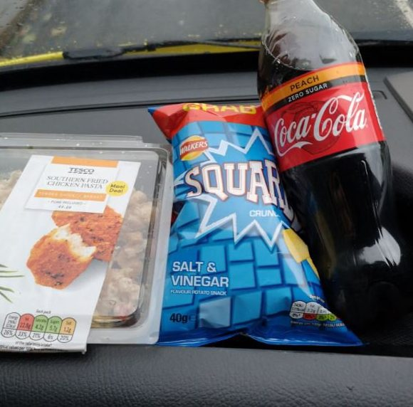 Sometimes all you need is a small gesture to brighten your day. On Thursday paramedic Chris Hughes got just that when he went to buy his lunch. Mr Hughes, from Merthyr Tydfil , was working in Bargoed when he called into Tesco to buy a pot of pasta, some crisps and a bottle of pop - but when he arrived at the till someone had already covered his bill. A mystery woman bought Chris Hughes his lunch in Tesco