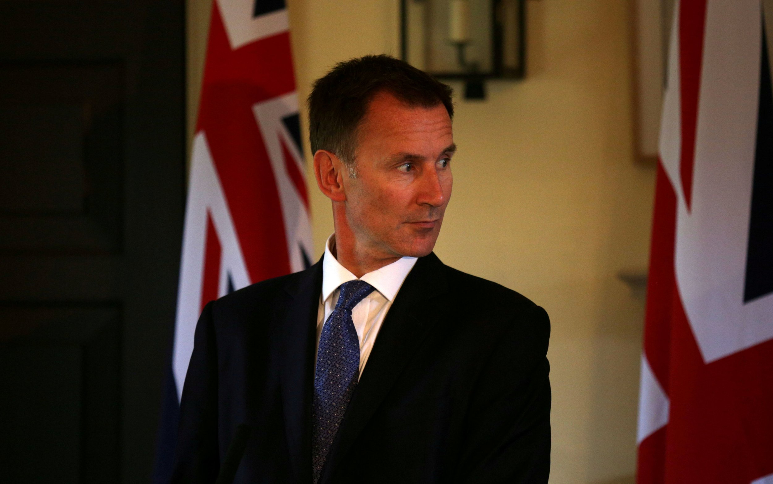 FILE PHOTO: Britain's Foreign Secretary Jeremy Hunt gives a press conference at the Royal Botanic Garden in Edinburgh, Scotland July 20, 2018. David Cheskin/Pool via Reuters/File Photo