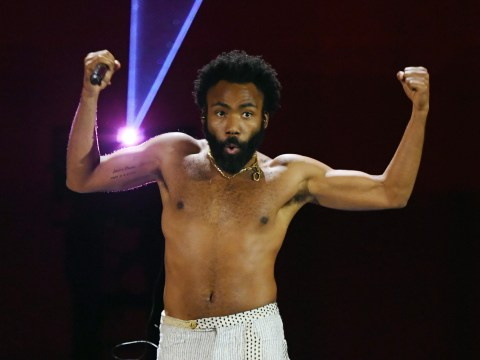 Childish Gambino spotted in wheelchair after 'breaking his foot' during gig