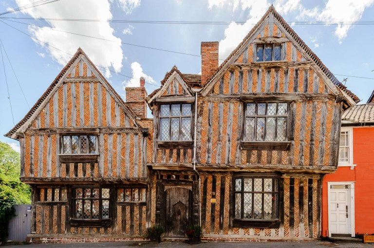 "Harry Potter's childhood home is up for sale The real-life crooked home - where Lily and James Potter were killed by The Dark Lord in the Harry Potter films - is being sold for ?995,000 (aprox $1.3m) Forming part of Godric's Hollow in the films it is where Snape found Lily minutes too late and where He-Who-Must-Not-Be-Named made baby Harry into his last, unplanned horocrux. In real-life the charming 14th-century English cottage is a Grade I listed building known as ""The De Vere House."" The property sit s just one hour north of London, in the medieval style village of Lavenham, England. Back between the 14th and 17th-centuries, Lavenham was one of the 20 wealthiest English settlements, with the DeVere family as the second richest family next to the royal family. The six-bedroom home is complete with two kitchens, a dining room, a sitting room, a drawing room and a big reception hall where you can greet all of your other Potter fans at parties. Pictured: Ref: SPL1589680 111017 NON-EXCLUSIVE Picture by: SplashNews.com Splash News and Pictures Los Angeles: 310-821-2666 New York: 212-619-2666 London: 0207 644 7656 Milan: +39 02 4399 8577 Sydney: +61 02 9240 7700 photodesk@splashnews.com World Rights"