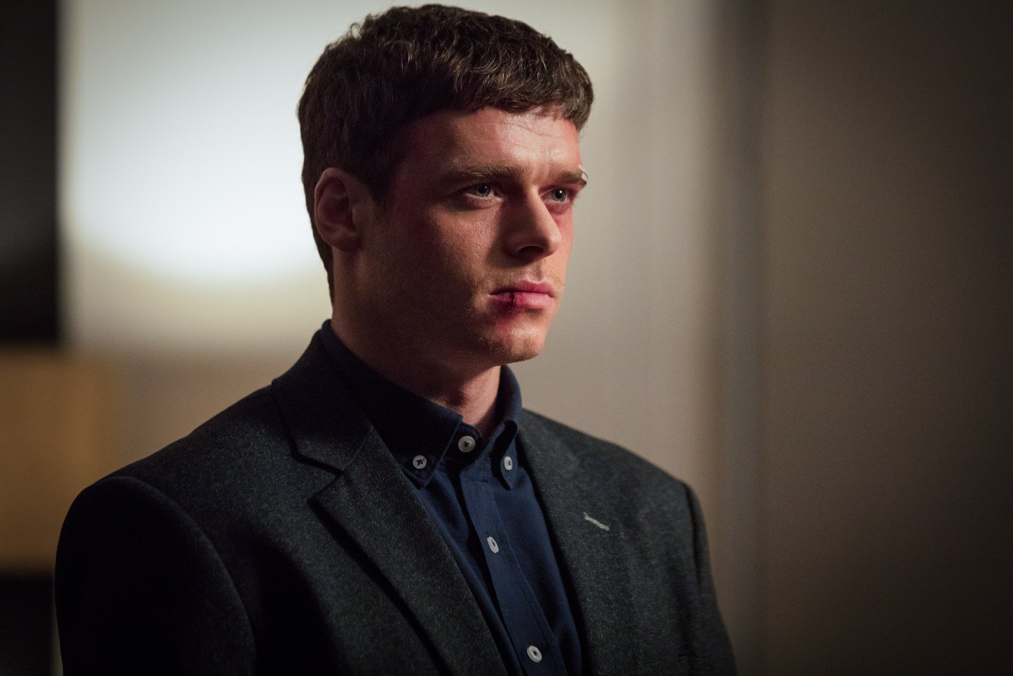 WARNING: Embargoed for publication until 00:00:01 on 18/09/2018 - Programme Name: Bodyguard - TX: n/a - Episode: n/a (No. Ep 6) - Picture Shows: *STRICTLY NOT FOR PUBLICATION UNTIL 00:01HRS, TUESDAY 18TH SEPTEMBER, 2018* David Budd (RICHARD MADDEN) - (C) World Productions - Photographer: Sophie Mutevelian