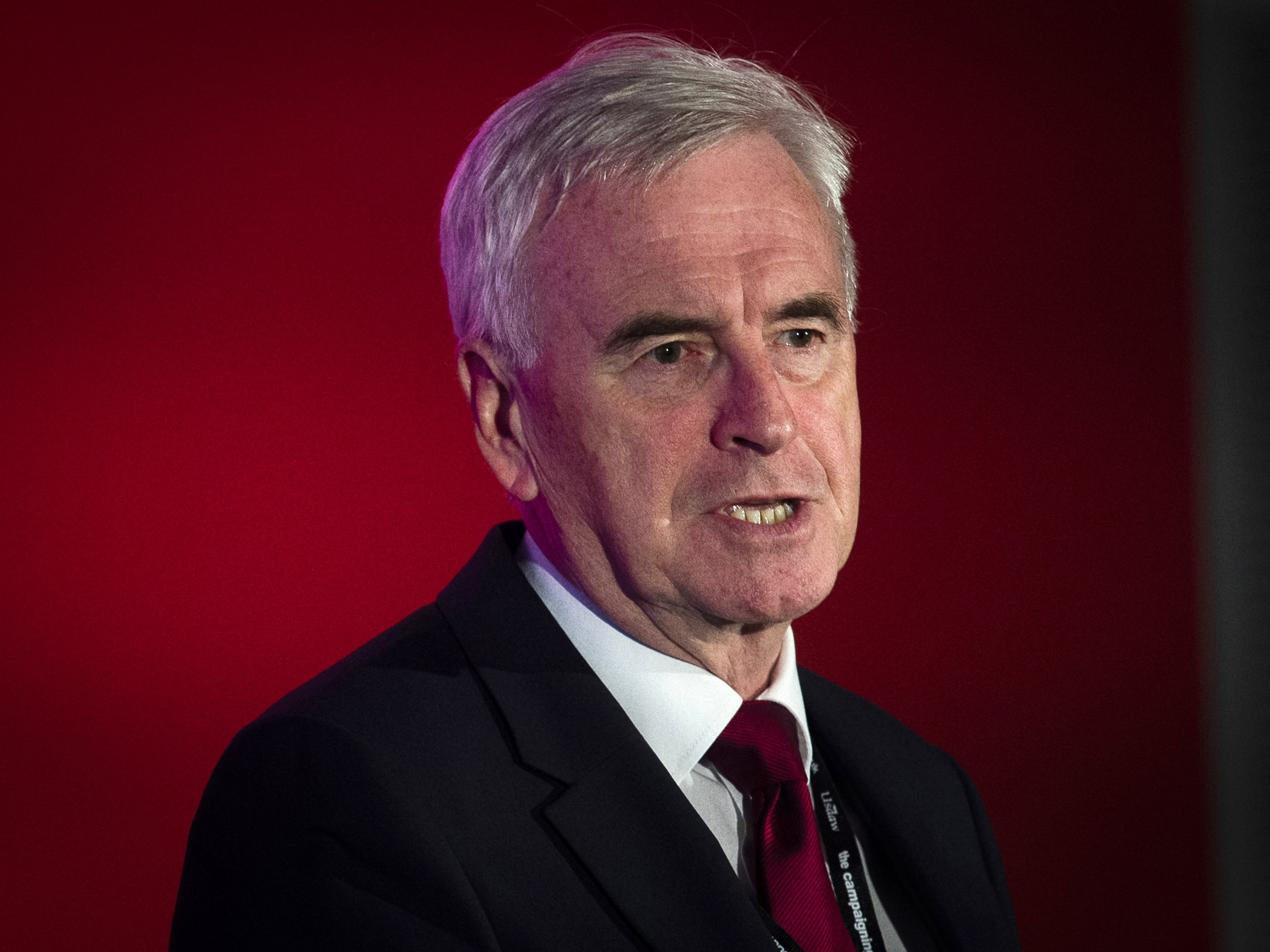 epa07041930 Shadow Chancellor John McDonnell attends a fringe event at the Labour Party Conference in Liverpool, Britain, 23 September 2018. The annual Labour Party Conference which will run from 23 September until Wednesday 26 September. EPA/WILL OLIVER