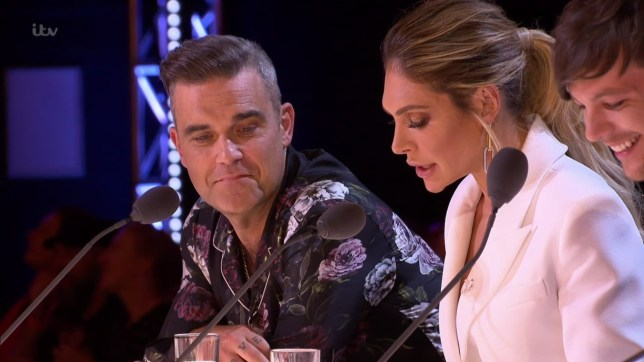 Chloe Mcallister auditions for the judges on 'The X Factor'. Broadcast on ITV1 Featuring: Robbie Williams, Ayda Field When: 23 Sep 2018 Credit: Supplied by WENN **WENN does not claim any ownership including but not limited to Copyright, License in attached material. Fees charged by WENN are for WENN's services only, do not, nor are they intended to, convey to the user any ownership of Copyright, License in material. By publishing this material you expressly agree to indemnify, to hold WENN, its directors, shareholders, employees harmless from any loss, claims, damages, demands, expenses (including legal fees), any causes of action, allegation against WENN arising out of, connected in any way with publication of the material.**