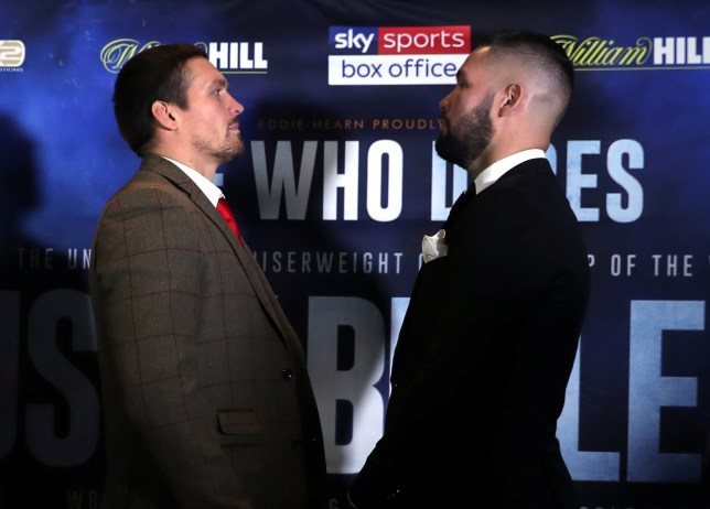 Boxing - Oleksandr Usyk & Tony Bellew Press Conference - Radisson Blu Edwardian Hotel, Manchester, Britain - September 24, 2018 Oleksandr Usyk and Tony Bellew go head to head Action Images via Reuters/Lee Smith