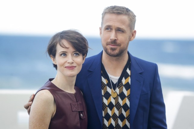 San Sebastian, SPAIN - Ryan Gosling and Claire Foy attend the First Man photocall during the 66th San Sebastian film festival Kursaal terrace in San Sebastian. Pictured: Ryan Gosling and Claire Foy BACKGRID USA 24 SEPTEMBER 2018 BYLINE MUST READ: MediaPunch / BACKGRID USA: +1 310 798 9111 / usasales@backgrid.com UK: +44 208 344 2007 / uksales@backgrid.com *UK Clients - Pictures Containing Children Please Pixelate Face Prior To Publication*