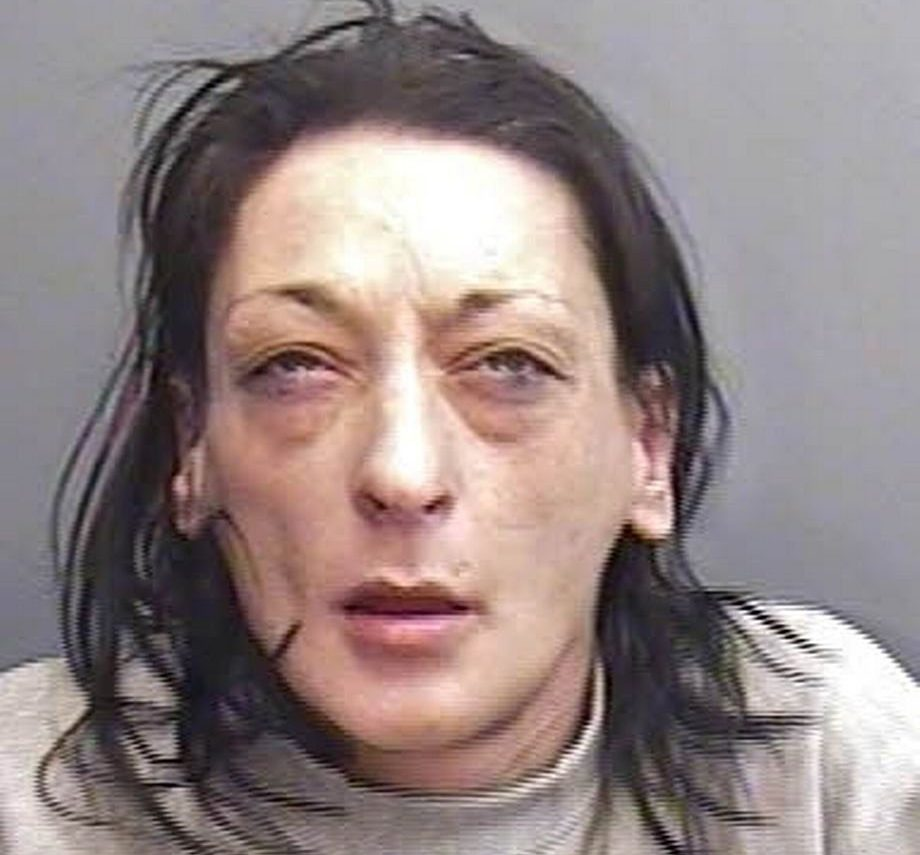 Jodine Harvey. See SWNS story SWKINDER; Two heroin addicts imprisoned and ferociously beat a man in his own flat as revenge after one of the defendants woke to find him trying to retrieve a Kinder egg full of drugs from her vagina. Steven Brown, 40, and Jodine Harvey 38, subjected Vincent Rutter to the terrifying ordeal over the course of 36 hours at his flat in the Park House tower block in St Austell in December last year. Both Brown and Harvey stood trial earlier this summer accused of false imprisonment and grievous bodily harm with intent, but a jury was unable to reach a verdict. On Monday (September 24) they had been due to be retried at Truro Crown Court but, following a period of discussion with their legal teams, Brown entered a guilty plea to causing grievous bodily harm with intent and Harvey to causing grievous bodily harm, which were deemed acceptable to the Crown Prosecution Service, sparing the need for a trial.