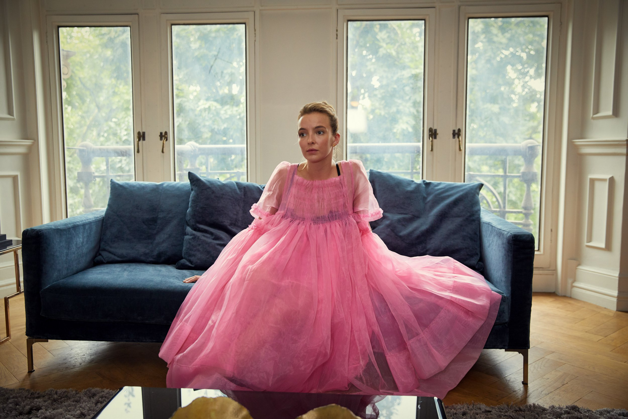 WARNING: Embargoed for publication until 00:00:01 on 18/09/2018 - Programme Name: Killing Eve - TX: n/a - Episode: n/a (No. Ep 2) - Picture Shows: *STRICTLY NOT FOR PUBLICATION UNTIL 00:01HRS, TUESDAY 18TH SEPTEMBER, 2018* Villanelle (JODIE COMER) - (C) Sid Gentle Films - Photographer: Robert Viglasky