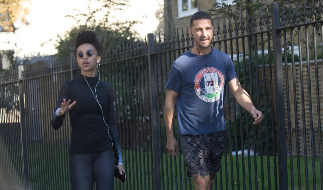 Date: 26/09/18 Pictured: Shia Labeouf and FKA Twigs Caption: Hollywood actor Shia Labeouf and FKA Twigs spotted in East London